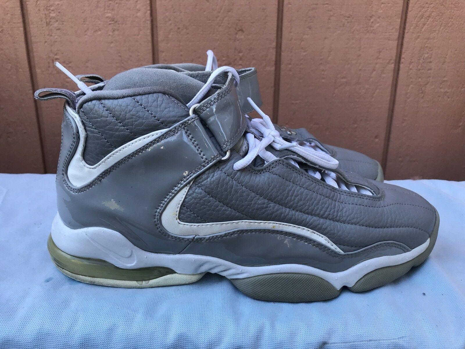 Rare EUC Nike Penny IV gris - blanco Hardaway 10,5 Vintage 2018 SZ US 10,5 Hardaway 302582-001 A3 0396a2