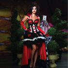Queen Of Hearts Costume Alice in Wonderland Fancy Dress with Trail Party Outfit