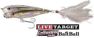 "Live Target 4/"" Glass Minnow Floating Surface Baitball Walk The Dog Choose Color"