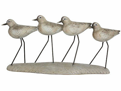 Coastal Grey Wading Birds Ornament on Clay Resin Plinth / Base Gift / Present