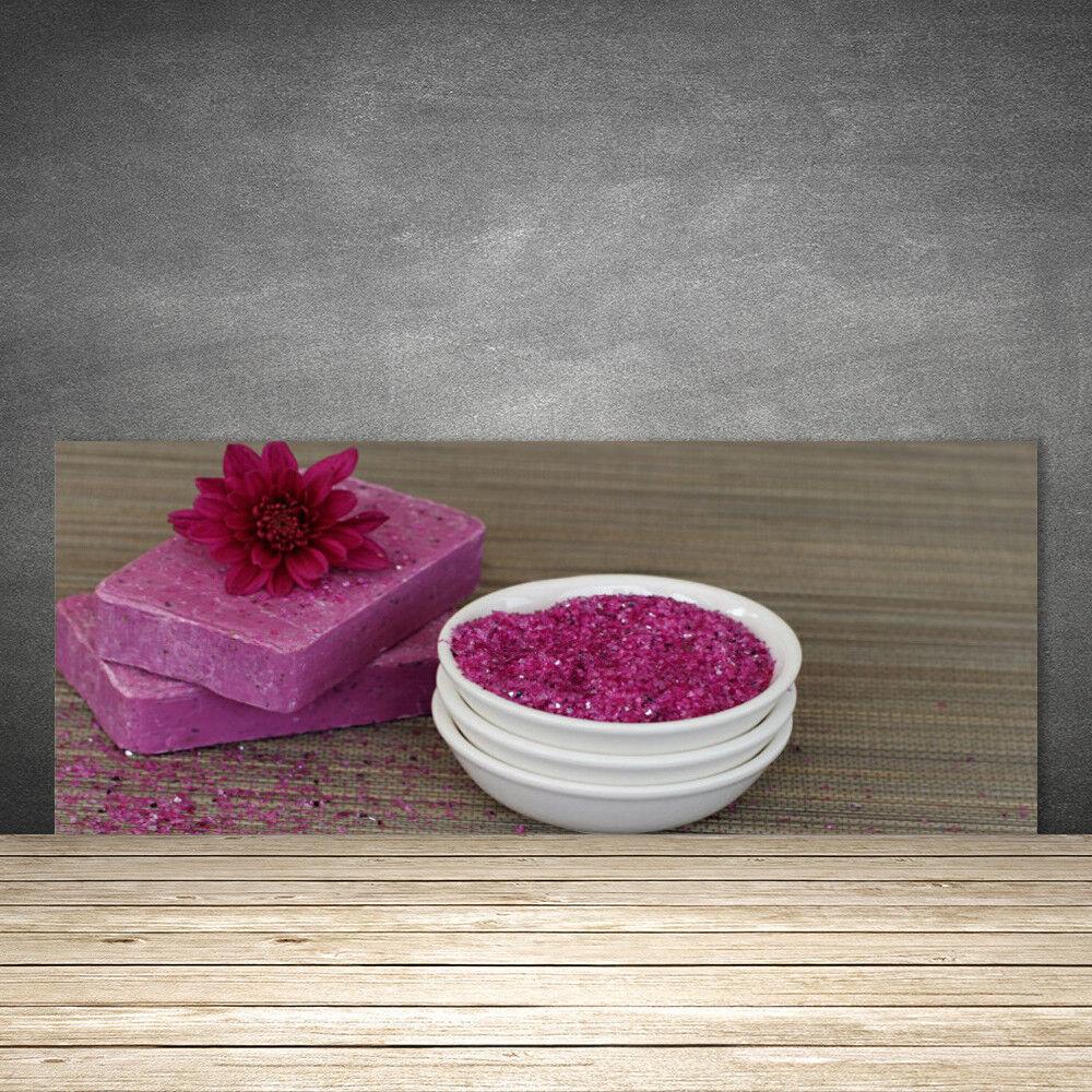 Crédence de cuisine en verre Panneau 125x50 Art Savons Sable