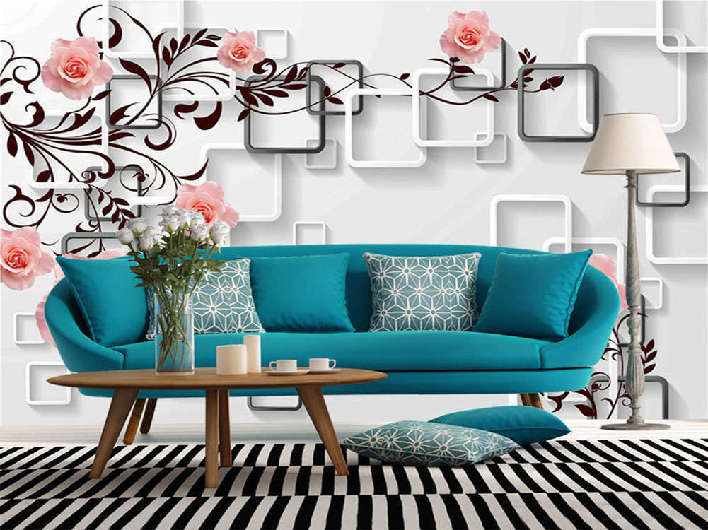 Great Pink pinks 3D Full Wall Mural Photo Wallpaper Printing Home Kids Deco
