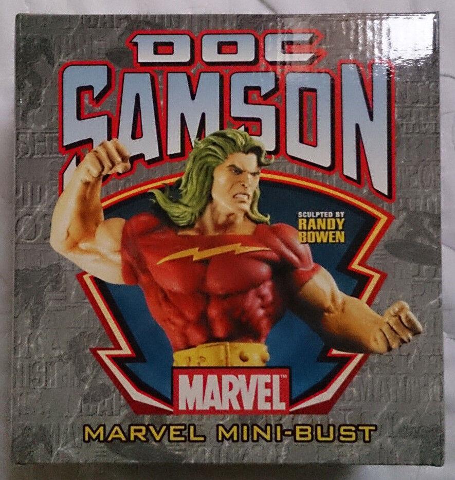 Marvel Comics BOWEN HULK Doc  Samson mini buste statue RARE AVEC BOITE  design simple et généreux
