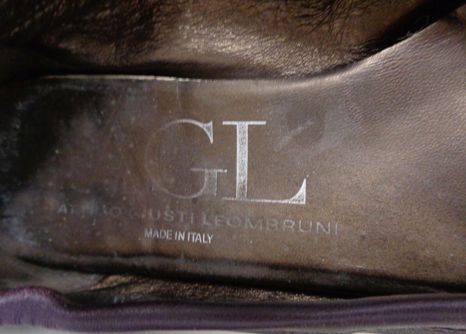 AGL Attilio Giusti Leombruni Puntera De De De Cuero Púrpura de piel de serpiente Ballet Planas 39 c1535d