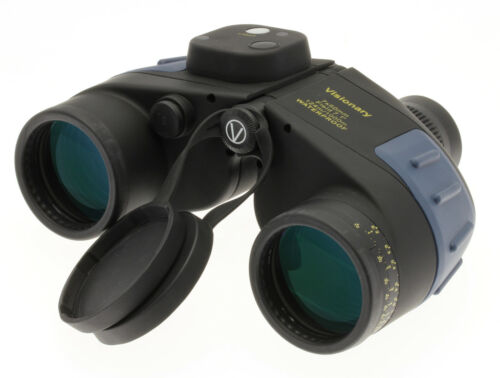 VISIONARY COMPASS BINOCULARS 7x50 WATERPROOF NITROGEN FILLED BAK4 MULTICOATED