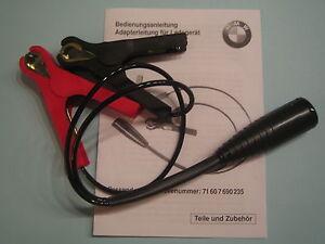 original bmw motorrad ladeger t adapter kabel mit klammern. Black Bedroom Furniture Sets. Home Design Ideas