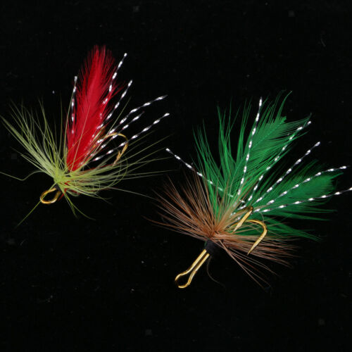 Details about  /12 Pieces Vivid Fishing Insect Flies Trout Salmon Flies Fly Fishing Lures