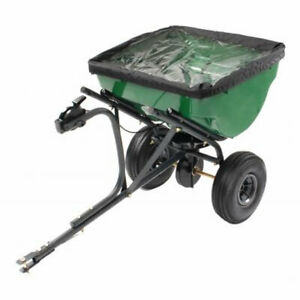 Precision Products 100 Lb Pro Series Tow Behind Broadcast Spreader With Rain 26432245109 Ebay