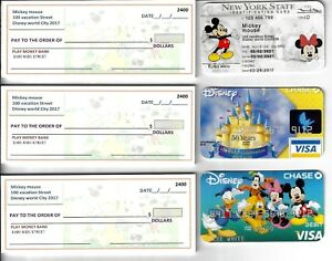 New Disney Play Fake Checks Mickey Mouse Driver S License Great