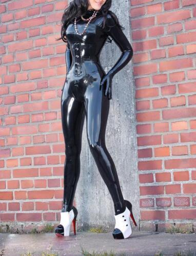 High-Quality Latex Rubber  Suit Bodysuit Catsuit Size XXS-XXL