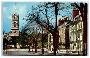 Vintage Picture Postcard Church Row Hampstead London