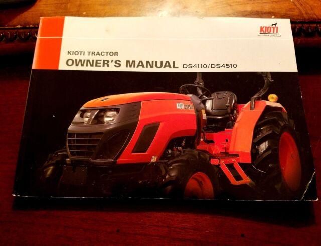 Kioti tractor owners manual