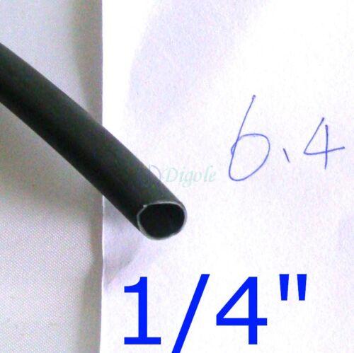 2ft 1//4 in//6.4mm Dia Adhesive Lined Heat Shrink Tubing Tube Black Waterproof