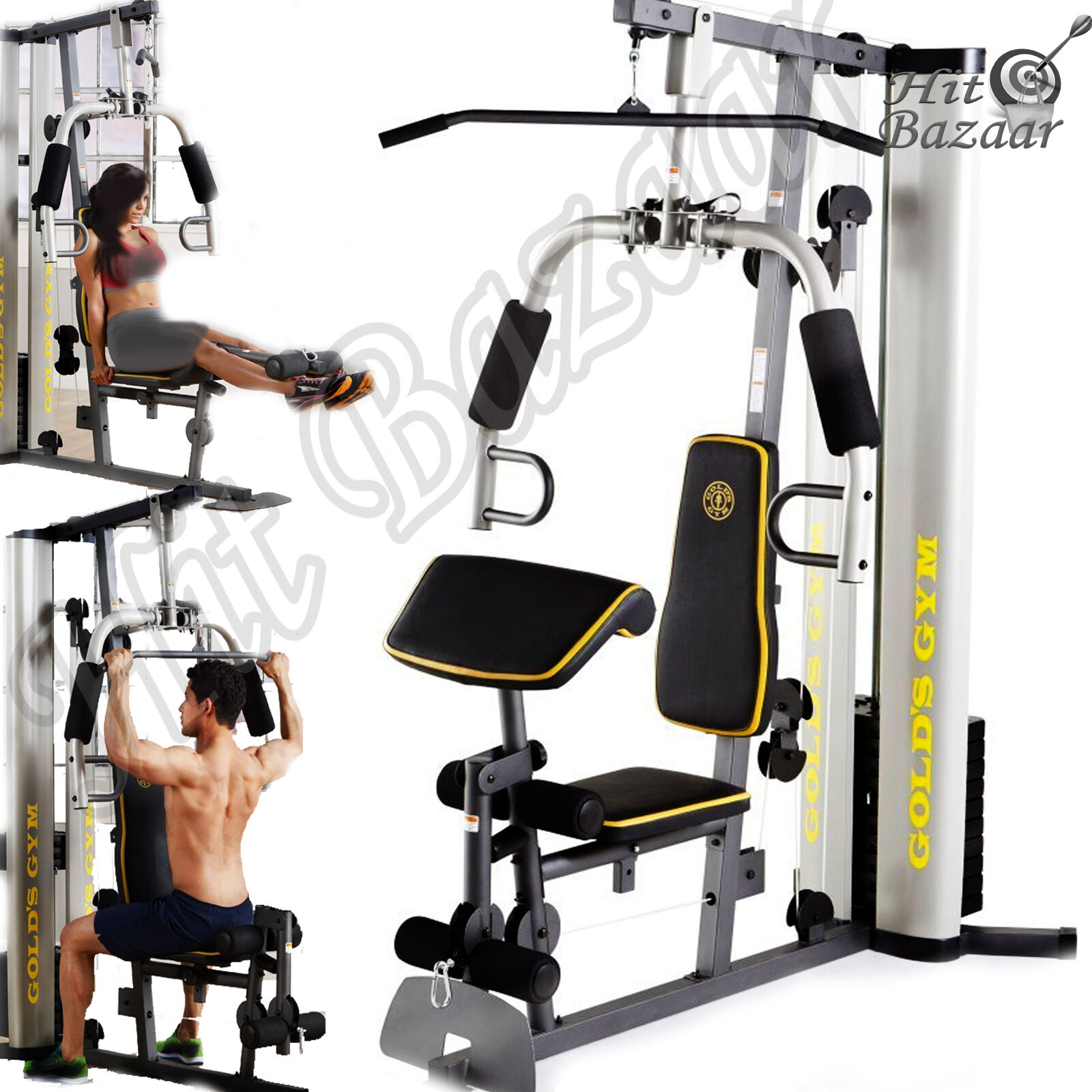 Gym System Strength Training  Workout Equipment Home Exercise Ma ne Weight Lift  brand on sale clearance