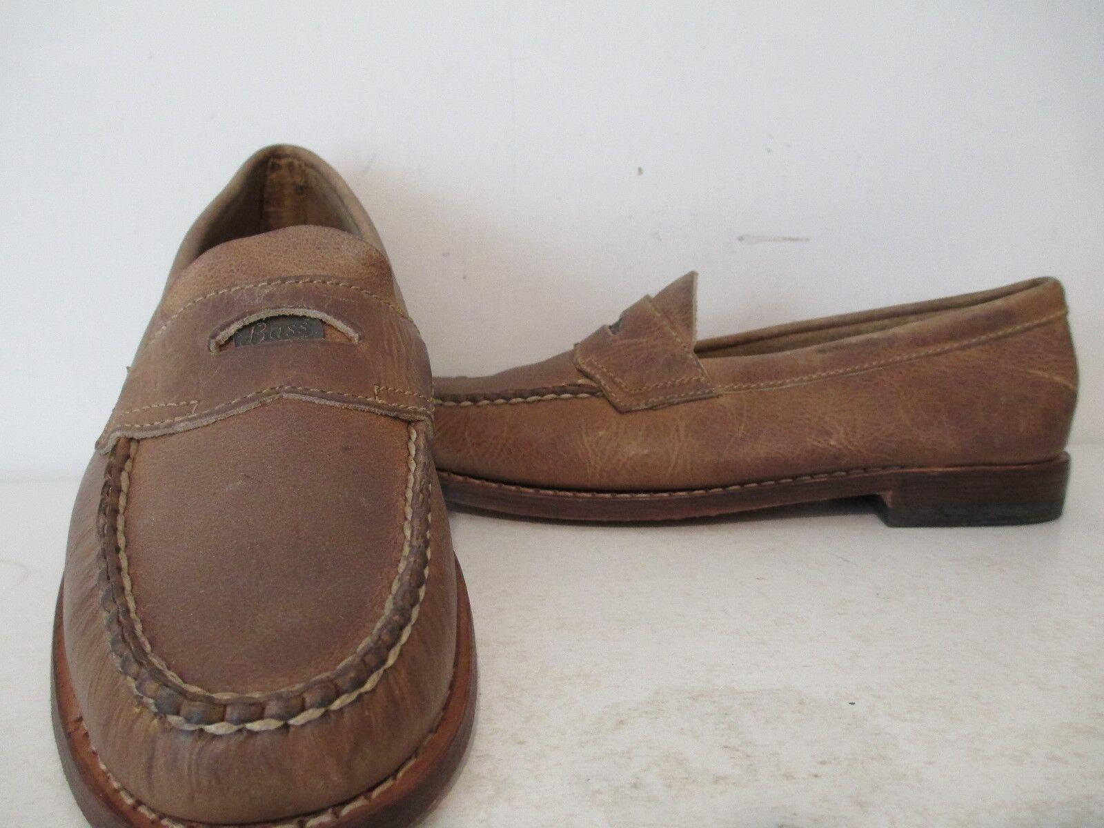Bass Weejuns Damenschuhe Waylon Distressed Leder Penny Loafer Slip-On Schuhes Tan 6 M