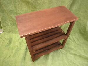 Panca sgabello con ripiani e lima di legno cm lungo ebay