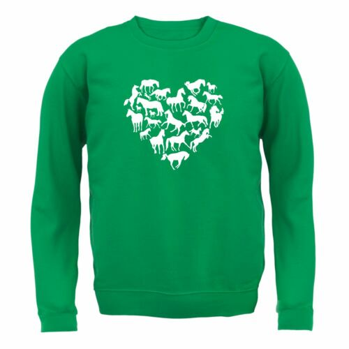 Heart Shape // Horses Love Heart Horse 8 Colours Unisex Sweater // Jumper