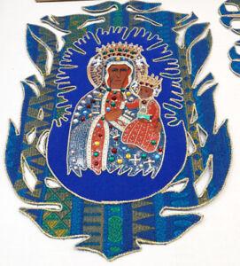 Nostra-Signora-di-Czestochowa-Emblemi-Toppe-per-Casula-e-Ha-Rubato-Casula-Raro