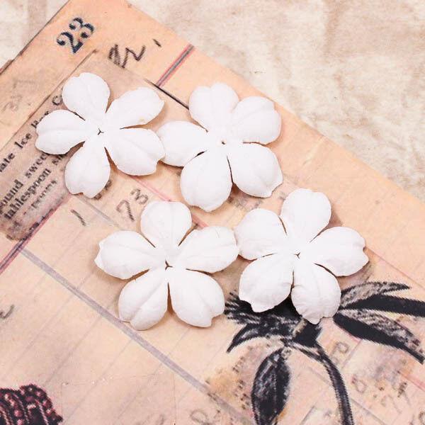 Vintage White Pure Scrapbook DIY Mulberry Paper Flower Wedding Card Craft A1232