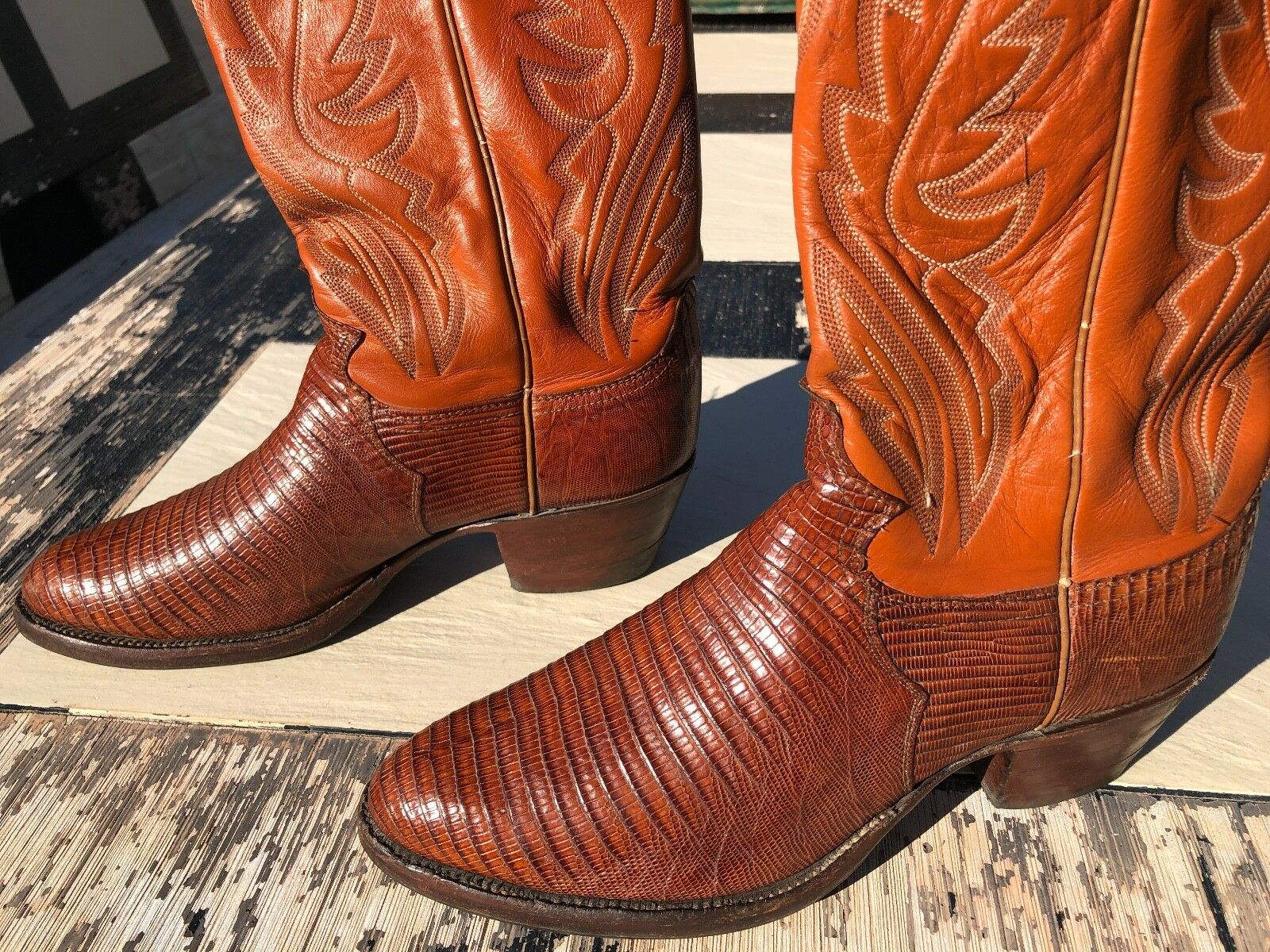 JUSTIN Lezard Cowboy Stiefel Western Santiag Men and Woman Größe US 7 D