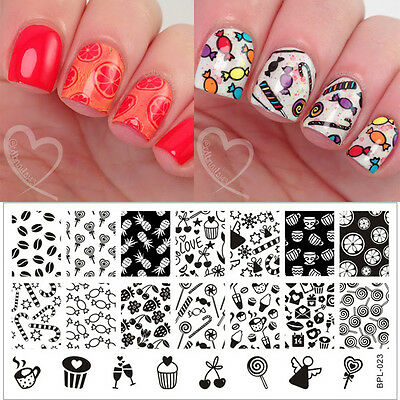 Nail Art BORN PRETTY Stamp Stamping Template Image Plate DIY Manicure #L001-L032