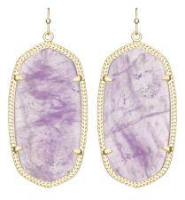 Kendra Scott Danielle Earrings in Purple Amethyst & Gold Plated - Limited Ed
