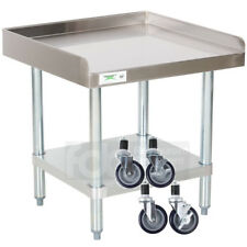24 X 24 Heavy Equipment Stand With Casters Stainless Steel Work Table Commercial
