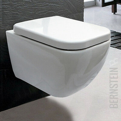 BERNSTEIN Luxus Wand Hänge WC Toilette Wandhängend Absenkautomatik CH101
