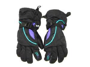 Head-M-Kids-Black-Blue-Purple-Winter-Gloves-Insulated-Nylon-Snow-Play-Boys-Girls