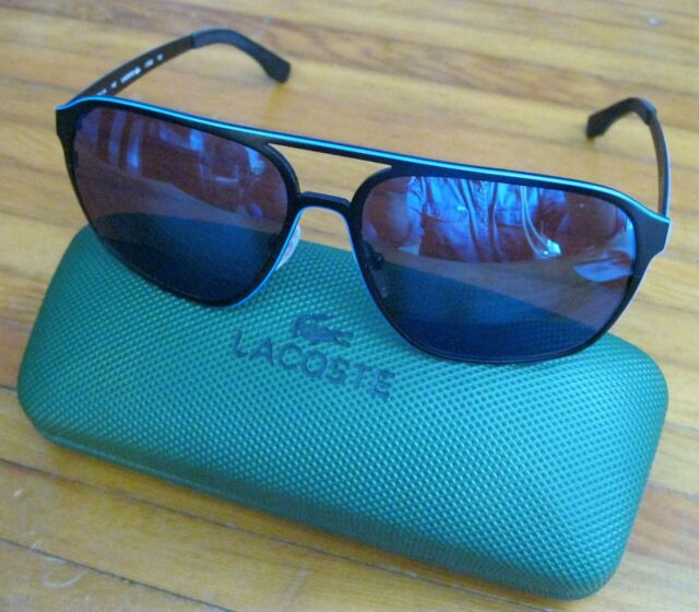 UNISEX LACOSTE SUNGLASSES RARE MODEL L168S NEW WITH CASE DARK BLUE FREE SHIPPING