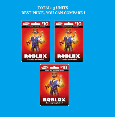 Roblox Gift Card Physical Online 10 Dollar Value for Robux ...