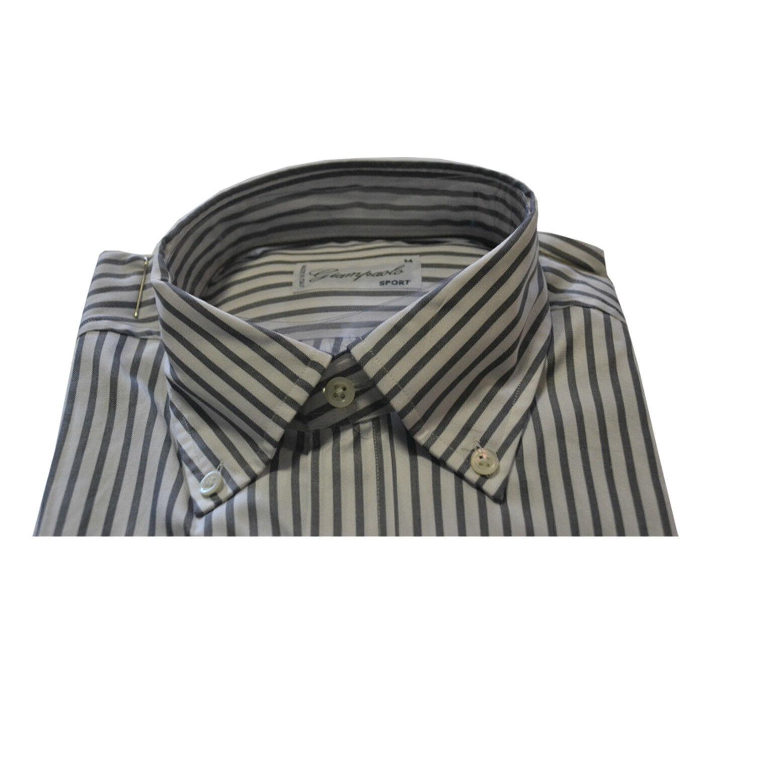 GIAMPAOLO GIAMPAOLO GIAMPAOLO SPORT Herrenhemd Rillen Regular Fit 100 | Maßstab ist der Grundstein, Qualität ist Säulenbalken, Preis ist Leiter  eaccf3