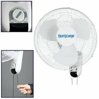 Hurricane Fans Wall Mount Oscillating Fan, 16-inch , New, Free Shipping
