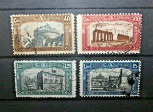 ITALIA-REGNO-1926-034-I-MILIZIA-034-TIMBRATI-USED-SET-CAT-A