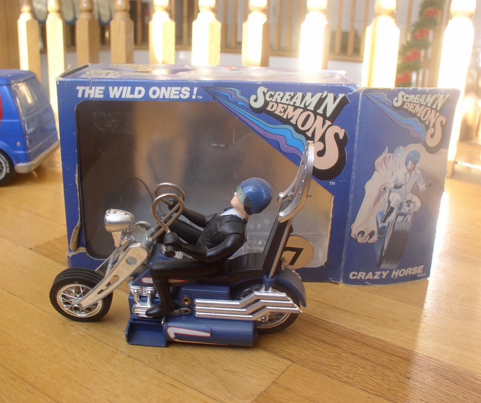 1970's Hasbro SCREAM'N DEMONS Crazy Horse with box  & WORKING