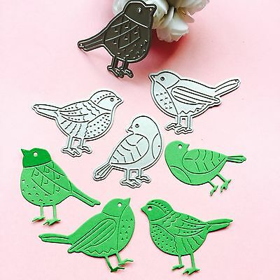 Four bird Metal DIY Cut Dies Stencil Scrapbook Album Paper Card Emboss Craft BE