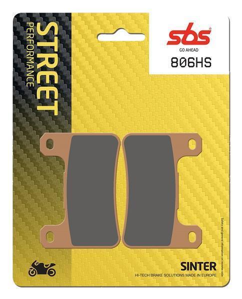 SBS Street Excel Front Sinter Brake Pads 806HS