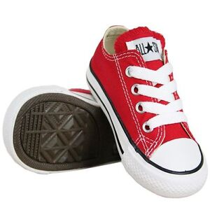 Converse Chuck Taylor All Star Ox Red White Infant Toddler Boy Girl ... 649a4d0d4