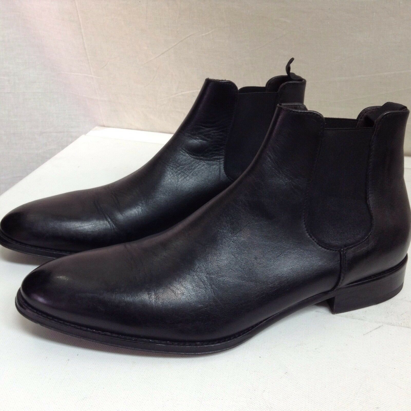 TO BOOT NEW YORK  Chelsea Leather Ankle Boots, Black 13