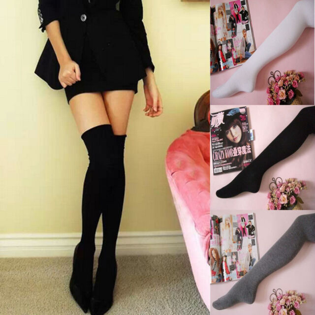 Fashion Sexy Girl's 5 Colours Thigh High Over the Knee Socks Cotton Stockings