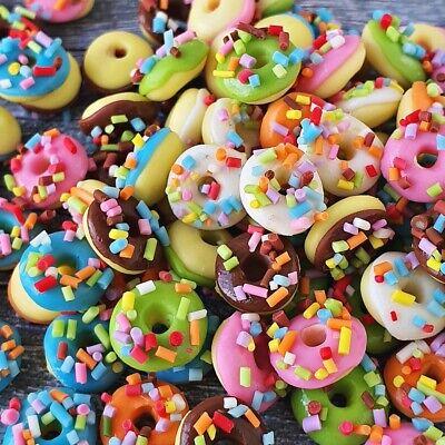 Donuts Doughnut Dollhouse Miniatures Food Bakery Sweet Barbie Supply Set Lot x10