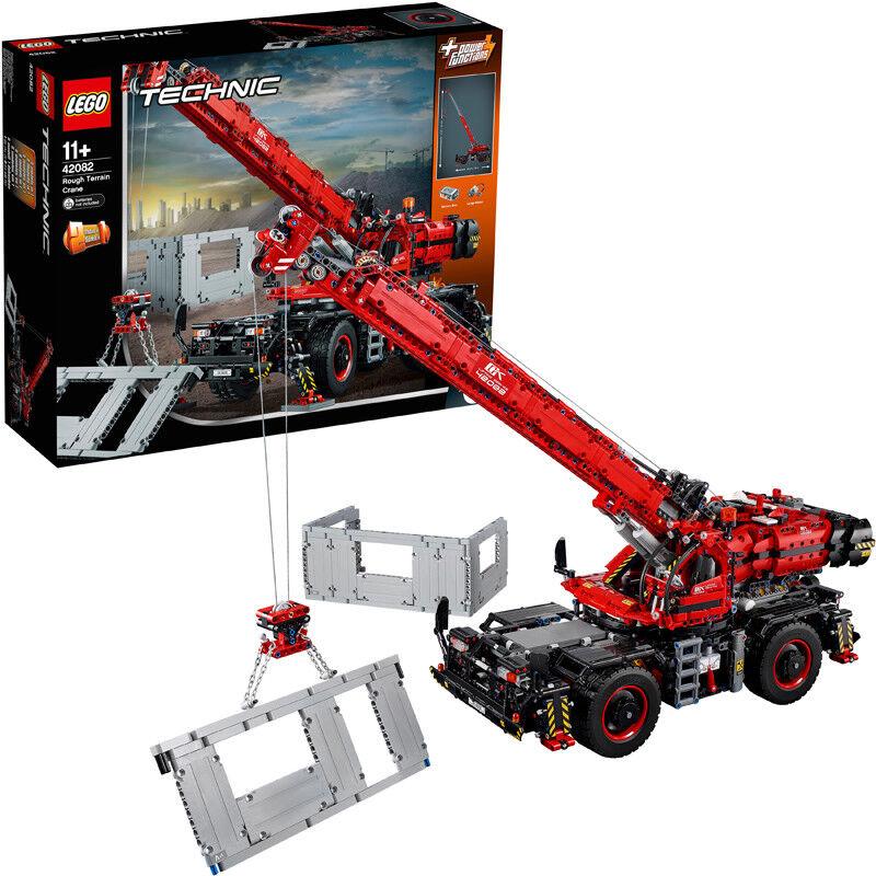 Lego Technic Rough Terrain Crane 2-in-1 Power Functions Building Set 42082 NEW