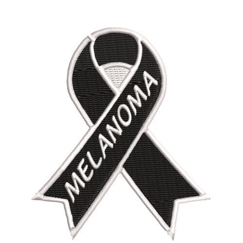 "Melanoma Black Awareness Ribbon 3.5/"" Iron//Sew On Decorative Patch"