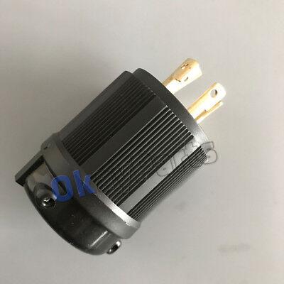 UL Approved L14-30P NEMA 30A 125V-250V Locking Male Plug US Generator Cord