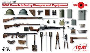 Dettagli Su O Icm 35681 Armi Equipaggiamenti Francesi Della Prima Guerra Mondiale 135