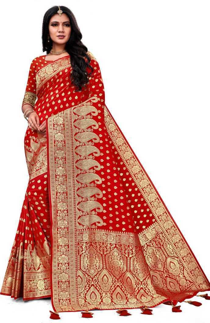 Red Banarasi Sari Party Wear Indian Pakistani Ethnic Wedding Designer Saree D14