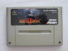 Nintendo Super Famicom Mortal Kombat 2 Japan SFC SNES F/S