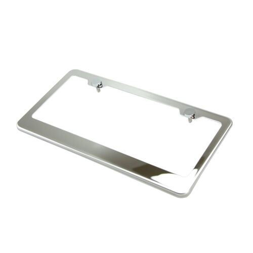 For Ford F150 2X Stainless Steel Metal License Plate Frames Tag Cover Screw Caps