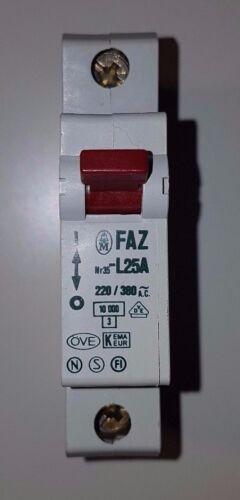 Klöckner moeller faz-l25 fusible l25a tubería disyuntor nuevo