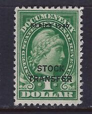 Bigjake: RD54, $1.00 Stock Transfer, Series of 1940, Unused NG